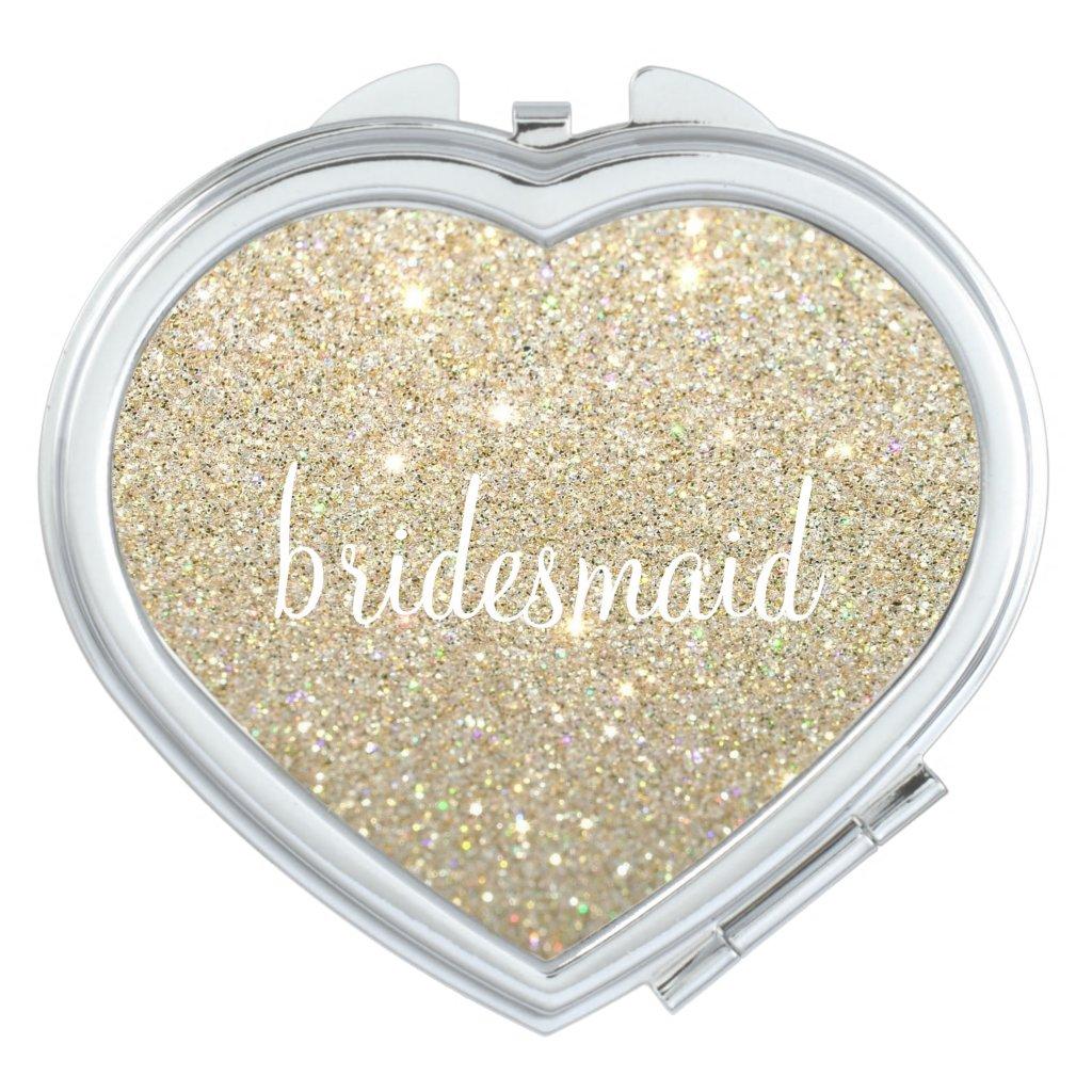 Compact Mirror - Glitter Bridesmaid