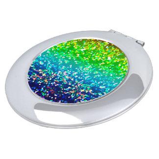 Compact Mirror Glitter Graphic