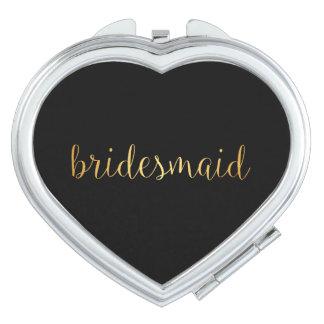 Compact Mirror - golden bridesmaid