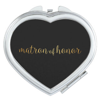 Compact Mirror - golden matron of honor