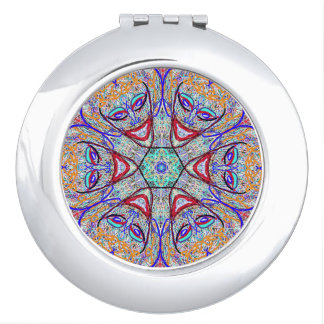 """Compact Mirror """"Laugh"""" by MAR"""
