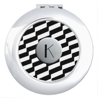 Compact Mirror Monogrammed Teen Fashion Geometric