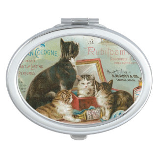 Compact Mirror with Vintage Ad