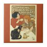 Compagnie Chocalats Vintage Advertisement French Small Square Tile