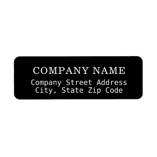 company black address label with co. name