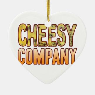 Company Blue Cheesy Ceramic Heart Decoration