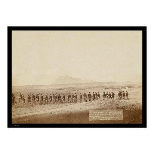 Company C 3rd US Infantry SD 1890 Poster