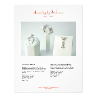 Company catalog 2 product sale line sheet template 21.5 cm x 28 cm flyer