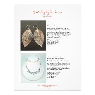 Company catalog 4 product sale line sheet template 21.5 cm x 28 cm flyer