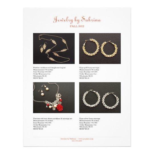 Company catalogue 8 product sale line sheet templa