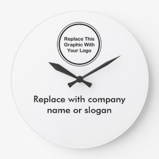 Company Logo Office Wall Clocks