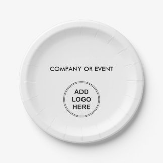 Company Logo Party Plates 7 Inch Paper Plate