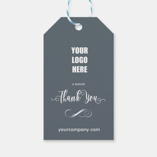 Company Logo Thank You White Gift Tags