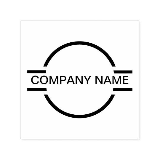 Company Monogram Logo Emblem Self-inking Stamp