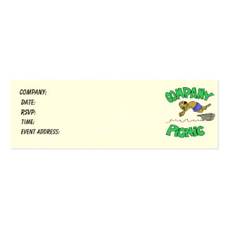 Company Picnic Admission Ticket Business Card Templates