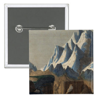 Comparative Height of the Principal Mountains Pinback Button