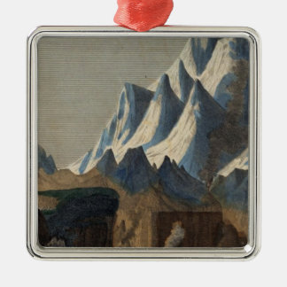 Comparative Height of the Principal Mountains Christmas Ornament
