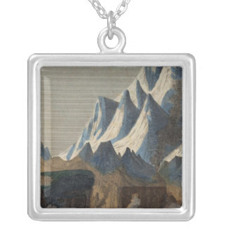 Comparative Height of the Principal Mountains Silver Plated Necklace