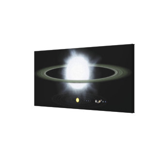 Comparison of the size of a hypergiant star canvas print