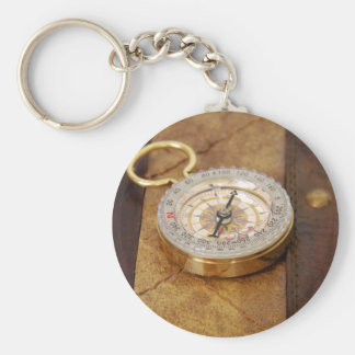 Compass040309 Basic Round Button Key Ring