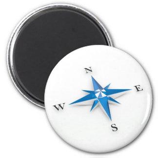 Compass 6 Cm Round Magnet