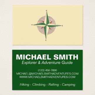 Compass Adventure Camp Camping Hiking Climbing Business Card