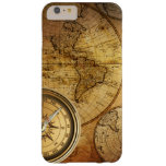 Compass and Map iPhone 6/6s Plus, Barely There Barely There iPhone 6 Plus Case