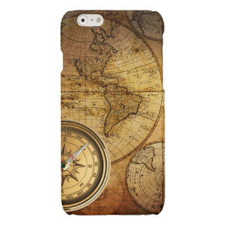 Compass and Map iPhone 6 Glossy Finish Case iPhone 6 Plus Case