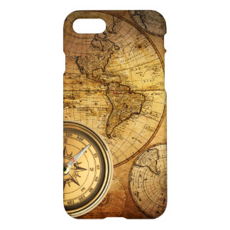 Compass and Map iPhone 7 Glossy Finish Case