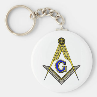Compass and Square Key Ring