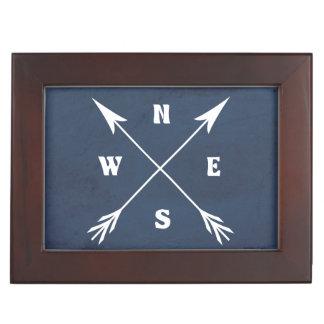 Compass arrows keepsake box