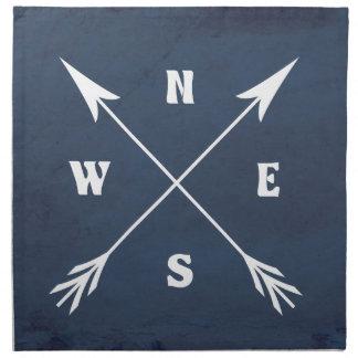 Compass arrows napkin