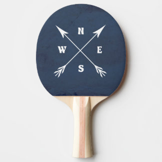 Compass arrows ping pong paddle