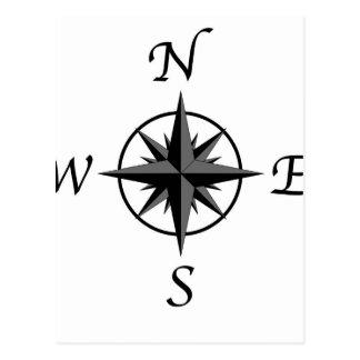 Compass Arrows Postcard