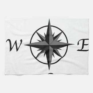 Compass Arrows Tea Towel