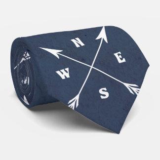 Compass arrows tie