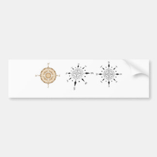 compass bumper sticker