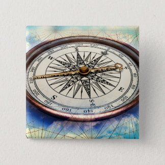 Compass Clouds 15 Cm Square Badge