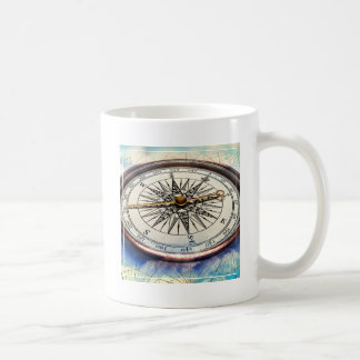 Compass Clouds Coffee Mug