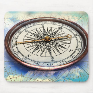 Compass Clouds Mouse Mat