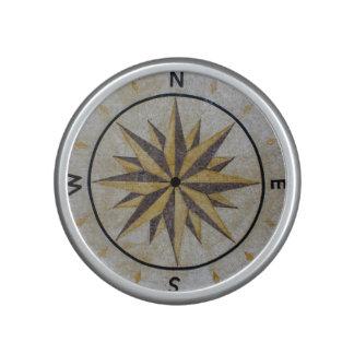 Compass Direction Design Point Floor Table Top Mar Bluetooth Speaker