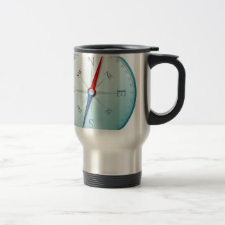 Compass East North South West Compass Rose Stainless Steel Travel Mug