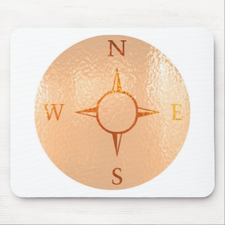 COMPASS East West North South NEWS Mouse Pad