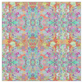 Compass Fractal Multi-colour Fabric