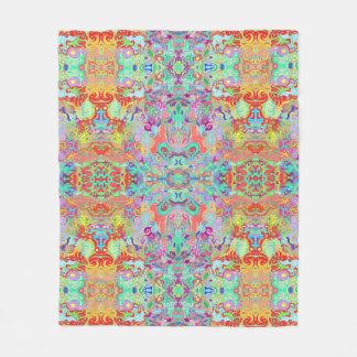 Compass Fractal Multi-colour Fleece Blanket