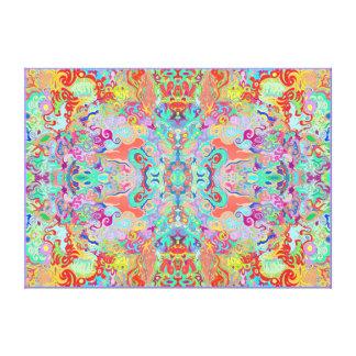 Compass Fractal Multi-colour Large Thick Canvas