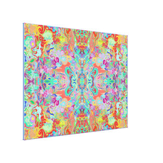 Compass Fractal Multi-colour Optimum Canvas