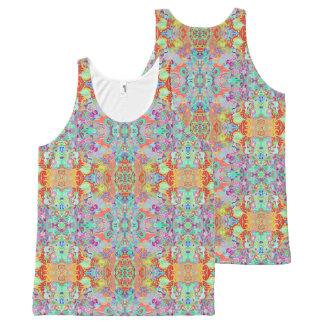 Compass Fractal Multicolour Unisex Tank Top All-Over Print Tank Top