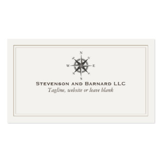 Compass Logo Traditional Nautical Pack Of Standard Business Cards