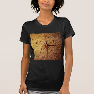 compass magg location old vintage paper rusty brow tees